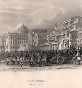 1858 British Empire India Stampa ~Calcutta~ Il Esplanade