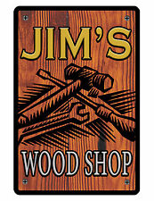 Personalized WORK SHOP Sign Printed with YOUR NAME Custom Wood Shop Sign D#051