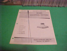 1973 SEARS LIGHTING FIXTURE OWNERS MANUAL #114A-86531 TONED COPPER