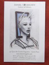 Rare et superbe carte de la galerie Daniel Maghen - Bilal