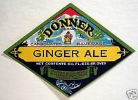 Vintage Donner Ginger Ale Soda Label Truckee Ca