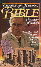 The Bible Story of Moses VHS Charlton Heston 1995