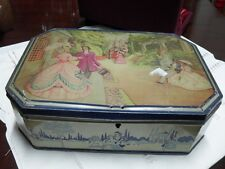 SCATOLA D'EPOCA IN LATTA CONFISERIE NATIONALE HOBOKON VINTAGE FRENCH TIN BOX