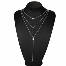 Fashion Women Choker Chunky Statement Bib Chain Charm Pendant Necklace Jewelry