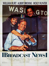 BROADCAST NEWS 1987 William Hurt, Holly Hunter, Albert Brooks FRENCH POSTER