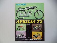 advertising Pubblicità 1973 MOTO APRILIA COLIBRI' 50/SELVAGGIO/SCARABEO/BIMBO