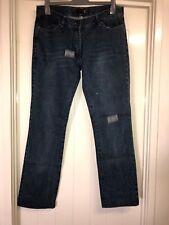 Just Cavalli Italian made Designer 44/30 Dark Blue Sparkle Distressed Jeans #A3