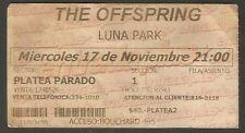 Argentina The Offsprings Luna Park Stadium Concert Ticket Stub 1999