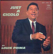 LOUIS PRIMA JUST A GIGOLO 45T EP CAPITOL 20.479