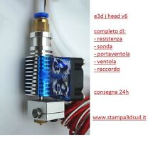 Estrusore metallo V6 - hot end 0.4 nozzle 1.75 mm ITALIA RepRap Prusa 3D E3d J