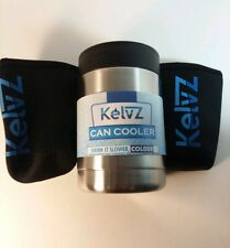 Kelvz Stainless Insulated Can Or Bottle Cooler Holder Coozie