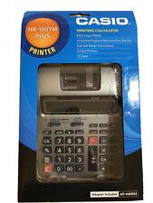 CASIO HR-100TM Plus Mini Desktop Printing Calculator with Adapter/ 12 Digit