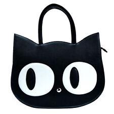 Banned Vintage Handtasche Tasche - Katze Katzen Schwarz Heart Of Gold Cat Kitty