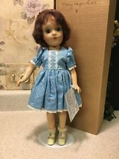 """Mary Hoyer 14"""" composition doll 1940's Marked """"the Mary Hoyer Doll"""" Purple Brown"""