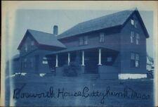 Cuttyhunk MA CYANOTYPE Real Photo Postcard BOSWORTH HOUSE