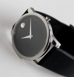 MOVADO Luxury Mens Watch, Black Face, 07.1.14.1142, Museum model, 39mm case size