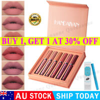 6PCS/Set Long Lasting Lip Gloss Beauty Glazed Matte Liquid Lipstick Lip Make-up✅