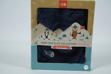 NWT Unisex North Face Baby Osocute Set RTO Cosmic Blue Hat Mittens sz XXS 0-6M