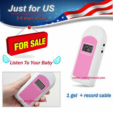 New Contec Lcd Prenatal Fetal Doppler Baby Heart Beat Monitor 1 Gel[Us Shipping]