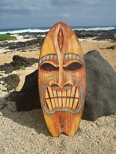 LARGE ANGRY TIKI GOD TROPICAL HAWAIIAN ISLAND SURFBOARD SIGN Beach Bar Decor NEW