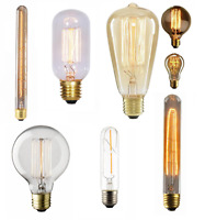 Vintage 40W Dimmable Filament Bulb  Incandescent E27 Industrial Squirrel Cage