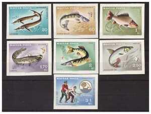 Hungary 1967 - Fish Imperforated Set MNH
