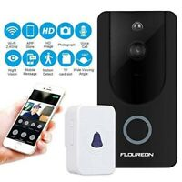 Wireless Video Doorbell WiFi Smart 720P HD Real-Time Video and Two-Way Talk New