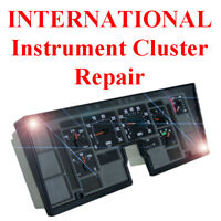 NAVISTAR INTERNATIONAL Instrument Gauge Cluster Dash Panel Speedometer REPAIR