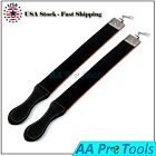 2 Pieces Barber Leather Strop Straight Razor Sharpening Shave Shaving Strap