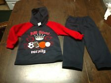 NWT Tuff Guys All Stars Varsity Red Navy Blue Outfit Size Boy's 2T