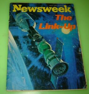 Newsweek Magazine July 21 1975 The Link-Up in Space