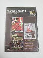 AMOR Y BALAS, CODIGO DEL HAMPA, RUTA INFERNAL Dvd 3x1 Clasicos Accion PRECINTADO