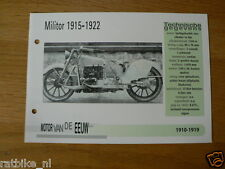 MVE56- MILITOR 1915-22 MINI POSTER AND INFO MOTORCYCLE,MOTORRAD