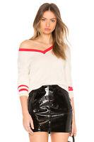 VELVET By Graham & Spencer Elliana Cashmere Blend VNeck Sweater Milk S $178 B2