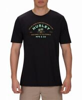 Hurley Mens T-Shirt Black Size Large L Crewneck Palms Graphic Tee $25 #231