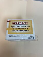 Burts Bees Intense Hydration Night Cream w/Royal Jelly 1.8 oz for Dry Skin Qty 2
