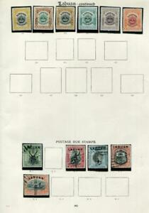 LABUAN: Unused & Postage Dues - Ex-Old Time Collection - Album Page (41691)