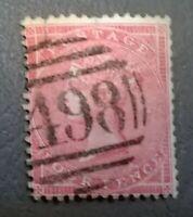 GB QV SC 26 * SG 66 * 4p Rose 1857 - Nice Numeral Cancel Nice Color  Lot 26-1