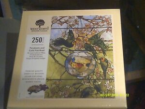 BRAND NEW SEALED DISCON. WENTWORTH 250 TIFFANY'PARAKEETS AND GOLD FISH BOWL'