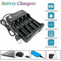 4 Slot Intelligent Vape Battery Charger 18650 10440 18350 Li-ion Ni-Mh AA AAA