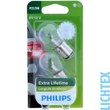 P21/5W PHILIPS LongLife EcoVision - Scheinwerfer Lampe - DUO-Box