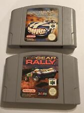 2x NINTENDO 64 N64 RAC RACING GAME CARTRIDGES TOP GEAR OVERDRIVE + TOPGEAR RALLY