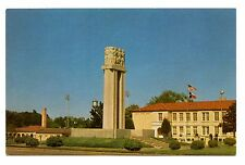 New London Texas Postcard School Cenotaph Explosion Memorial Jr Sr High Vintage