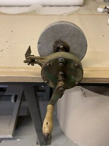 Vintage Hand Cranked Grinder ,Sharpener Tool Working Order