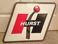 Hurst Shifter Embossed Metal Sign 27 X 17 Corner To Corner Good Condition
