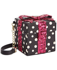 Betsey Johnson Gift Box Sequin Crossbody / Shoulder Bag, NEW with Tags