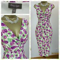 🎀 PHASE EIGHT Tulip Floral Stretch Pencil Wiggle Party Occasion Dress UK 12 🎀