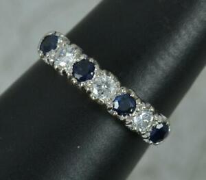 18 Carat Gold Sapphire and Diamond Half Eternity Stack Ring