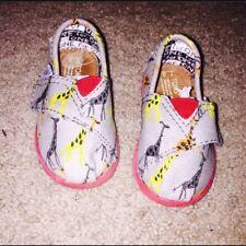 New Infant Toms Ash Giraffe Slip on Shoes Size 3