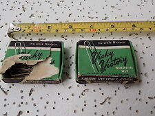 Lot (2) VICKY VICTORY Crimped HAIR PINS, Smith Victory Corp,  WWII Home Front